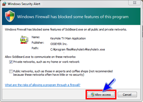 Windows10 FireWall E Dialog